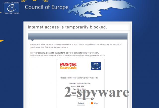 Council of Europe virus instantané