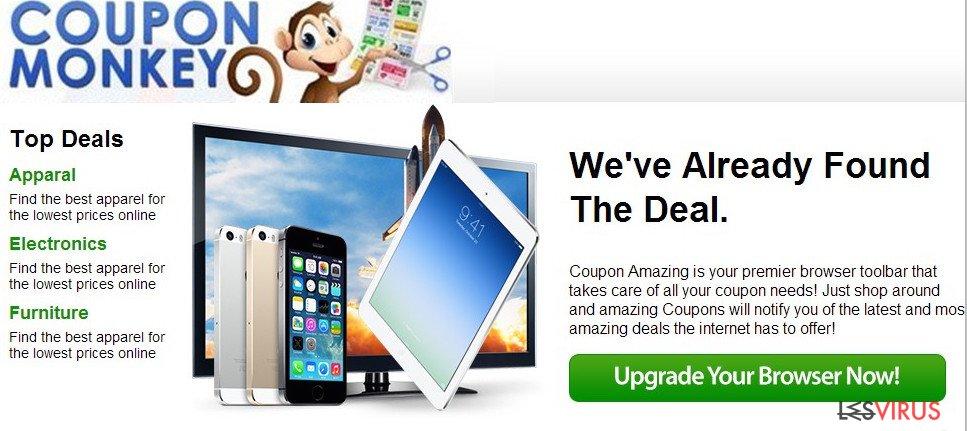 Coupon Monkey ads instantané