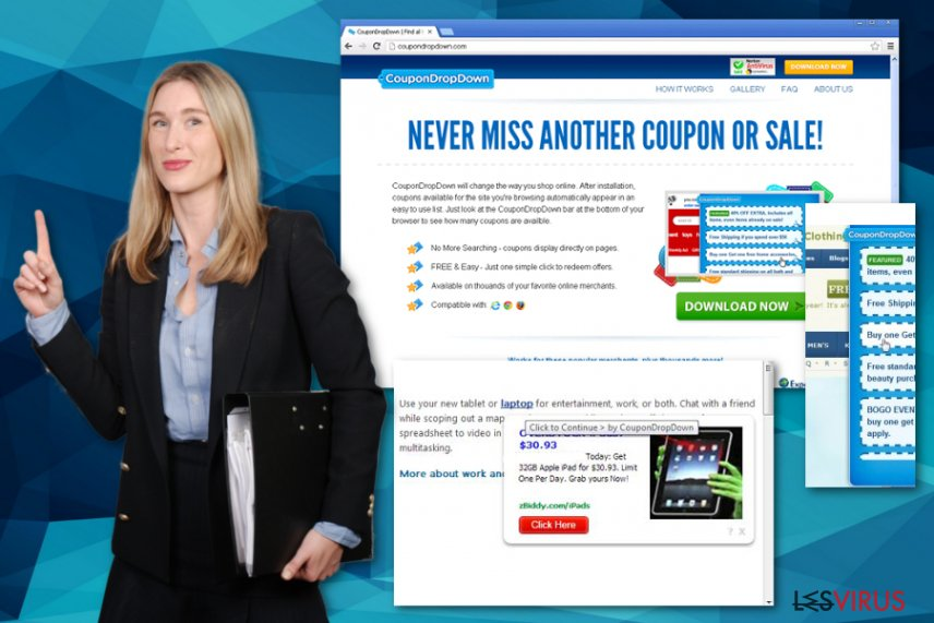 Le virus CouponDropDown