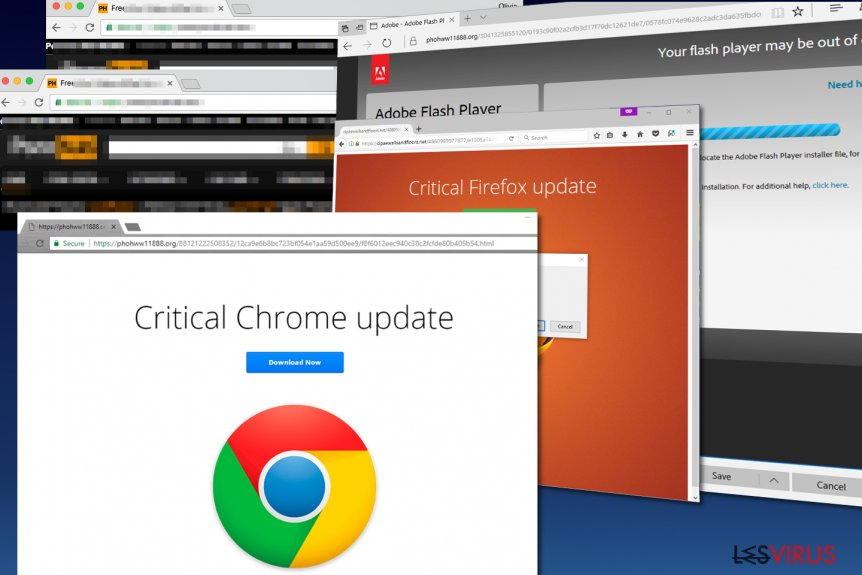 le malware Critical Chrome Update