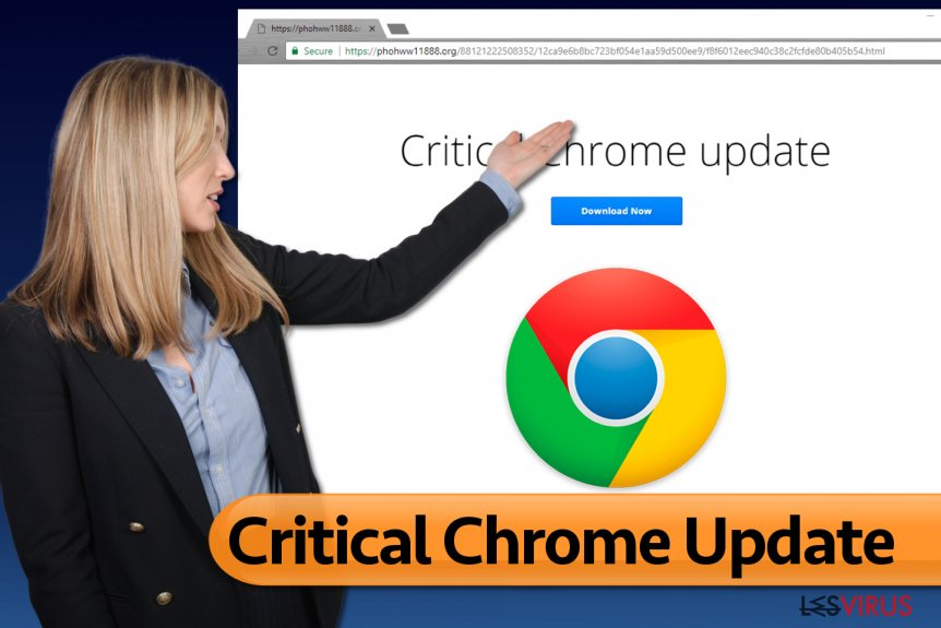 le virus Critical Chrome Update