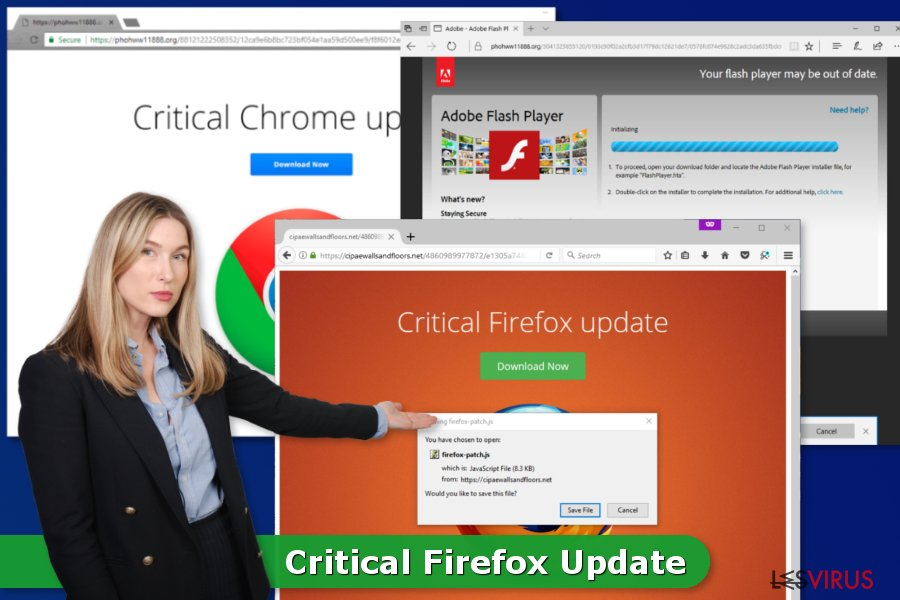 le virus Critical Firefox Update