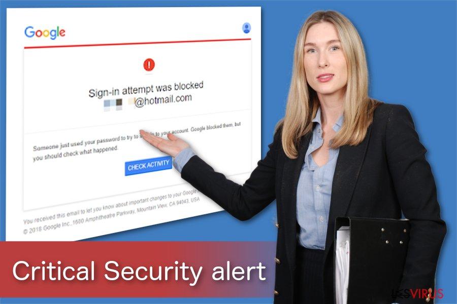 Illustration de l'alerte de Sécurité Critique