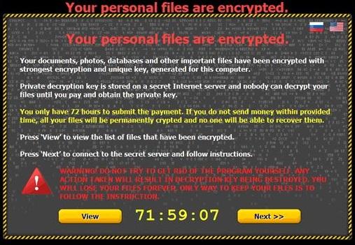 Critroni Ransomware instantané