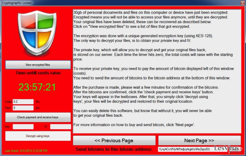 Trojan.LockScreen instantané