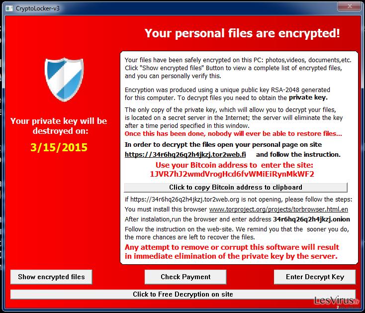 Cryptolocker-v3 virus instantané