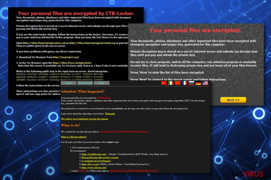 Le virus CTB Locker instantané