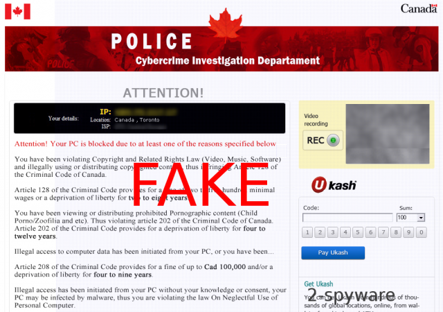 Cybercrime Investigation Department virus instantané