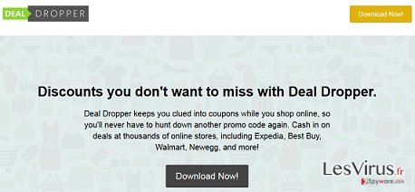 Deal Dropper pop-up ads instantané