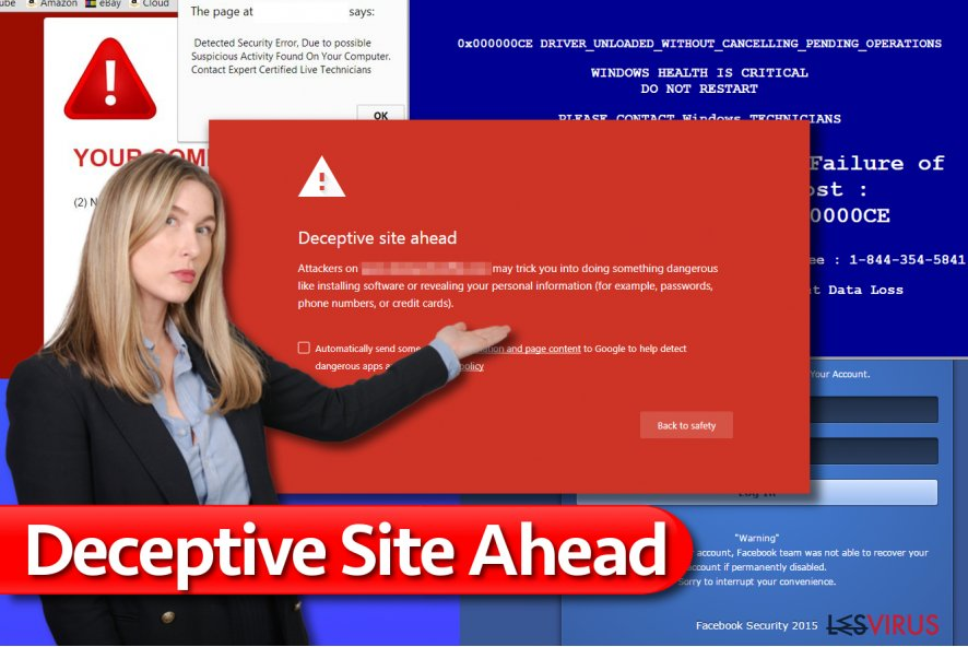 Le message Deceptive Site Ahead /Site à Risque
