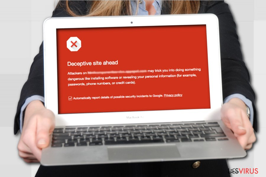 Deceptive Site Ahead warning on Google