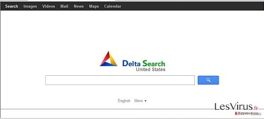 an example of Delta Search main page