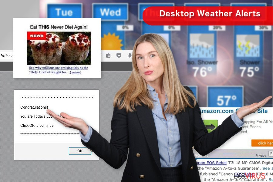 « Desktop Weather Alerts » pop-up