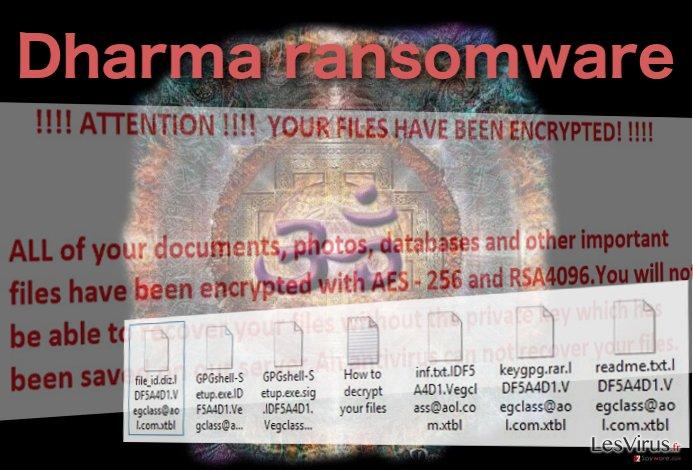 Le virus rançongiciel Dharma instantané