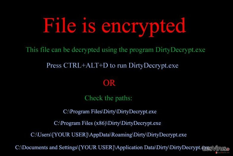 DirtyDecrypt instantané