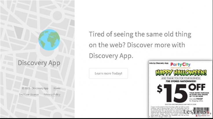 Annonces par Discovery App instantané