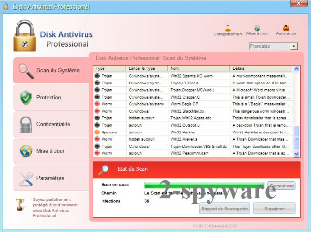 Disk Antivirus Professional instantané