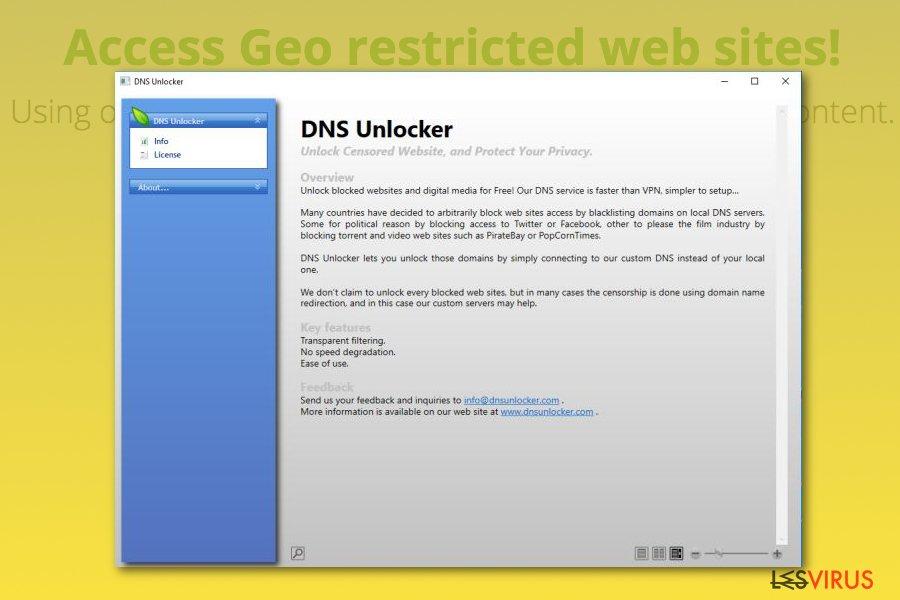 L'adware DNS Unlocker instantané