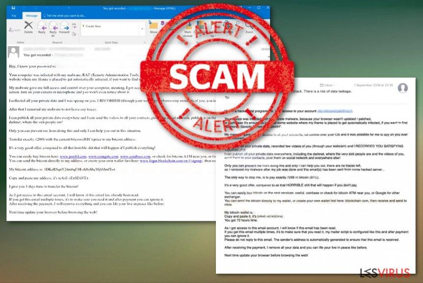 la campagne d'arnaque par E-mail Drive by Exploit