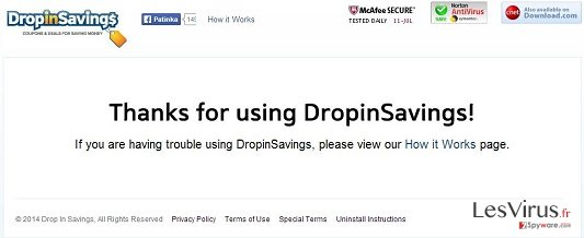 DropinSavings virus instantané