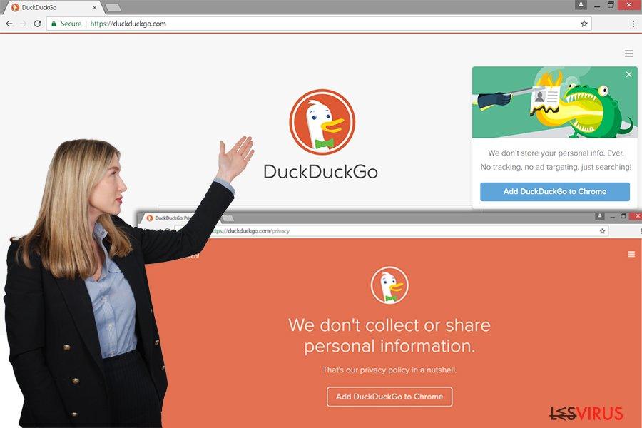 Le site Web du Publiciel DuckDuckGo