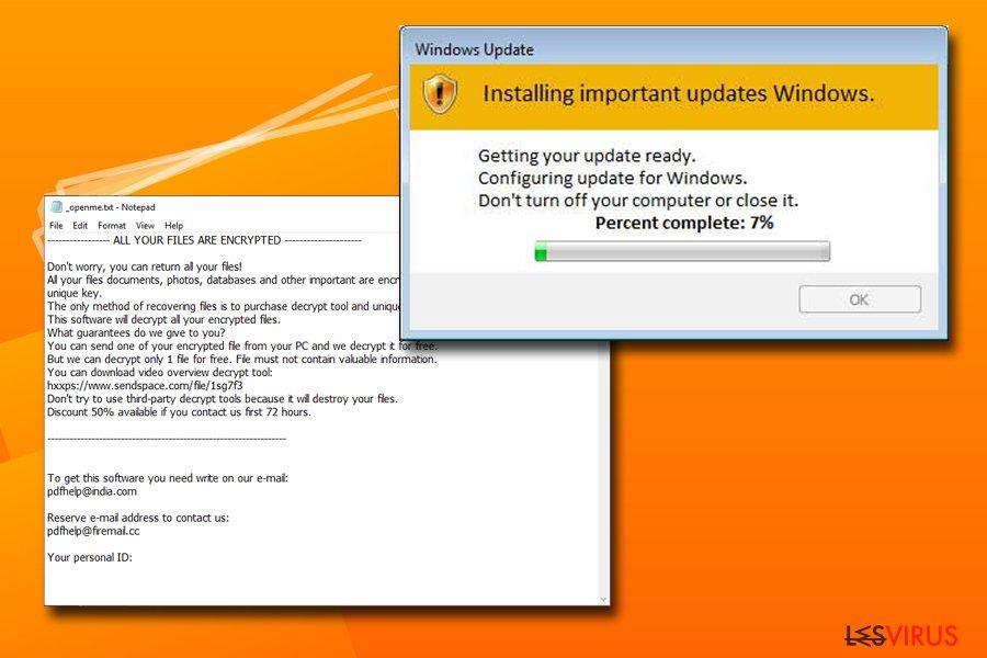 Le ransomware Djvu instantané