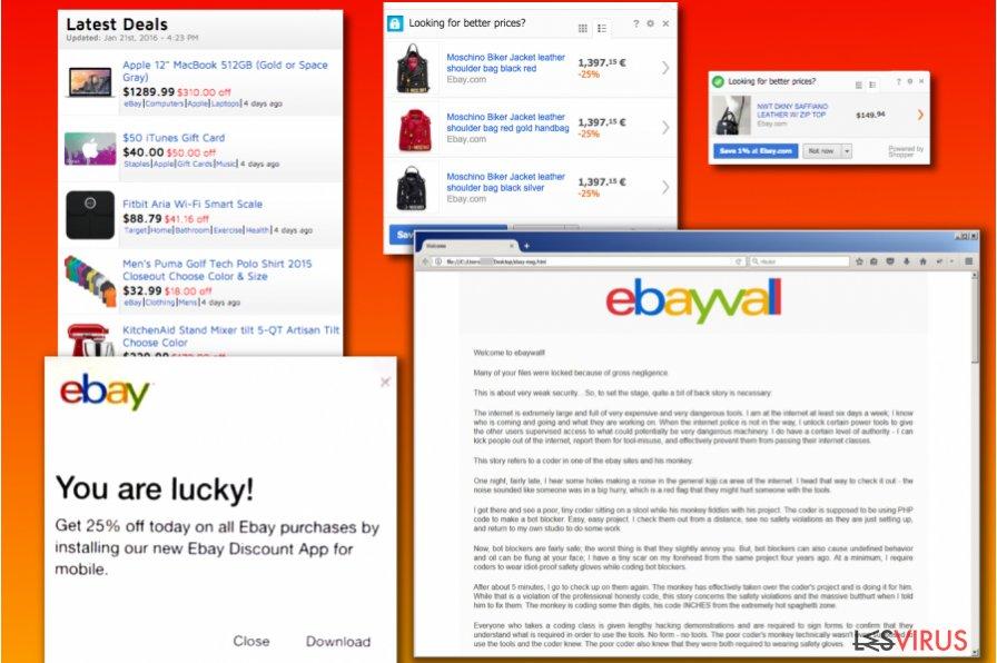 Les variantes du virus eBay