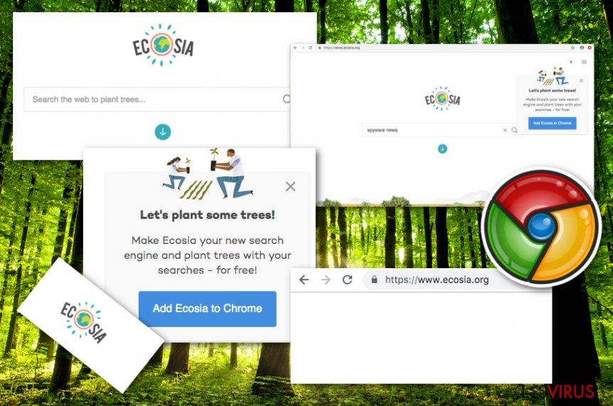 Le virus Ecosia.org instantané