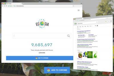 Illustration du site Ecosia.org