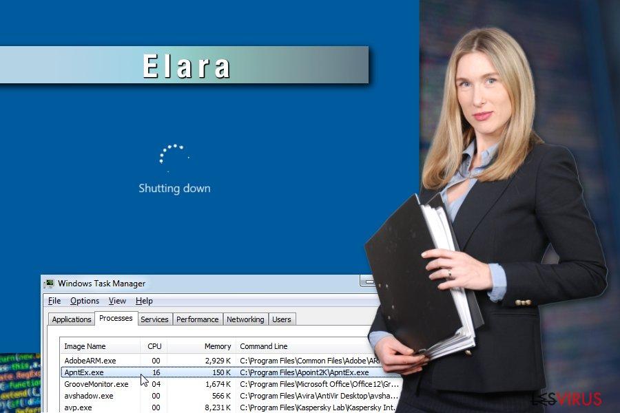 Exemple de l'application Elara