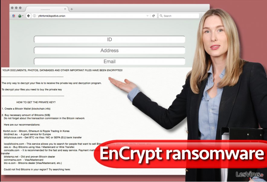 Le virus rançongiciel EnCrypt
