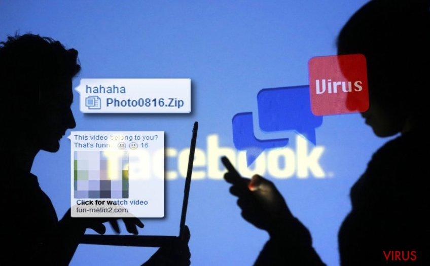 Les virus de Facebook instantané