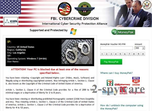 FBI Cybercrime Division virus instantané