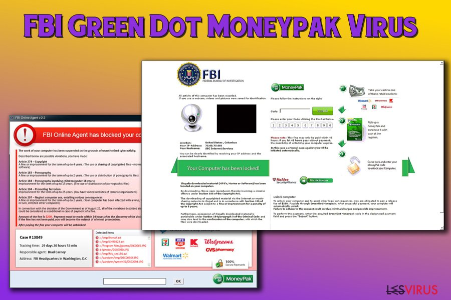 Supprimer FBI Green Dot Moneypak virus (Guide de suppression