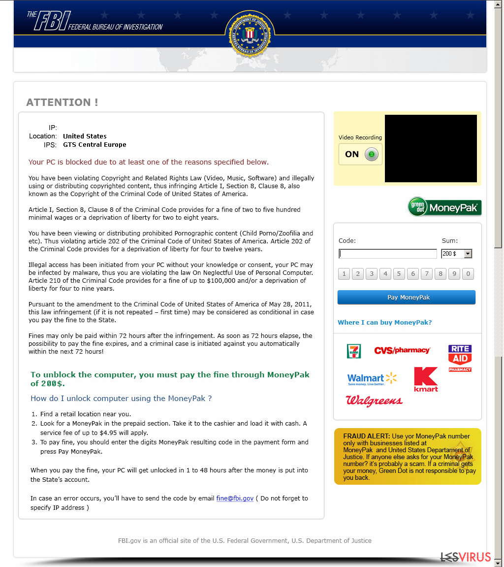 FBI Moneypak instantané