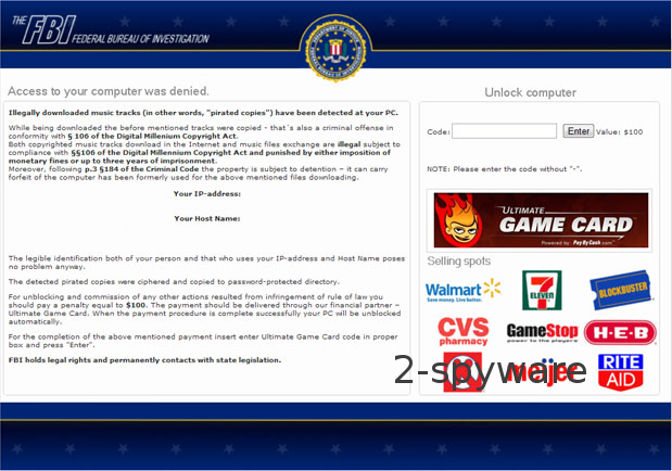 FBI Ultimate Game Card virus instantané