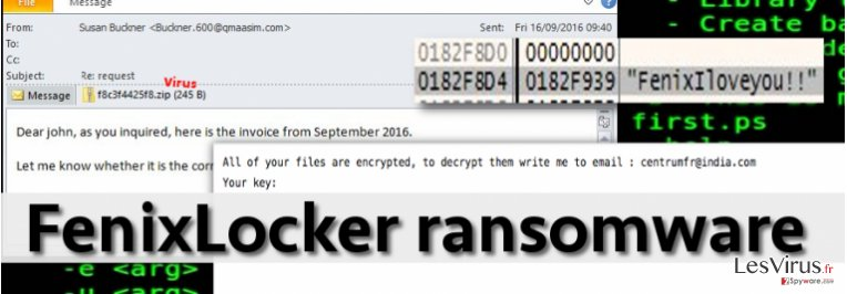 FenixLocker virus infects computers via malicious email attachments