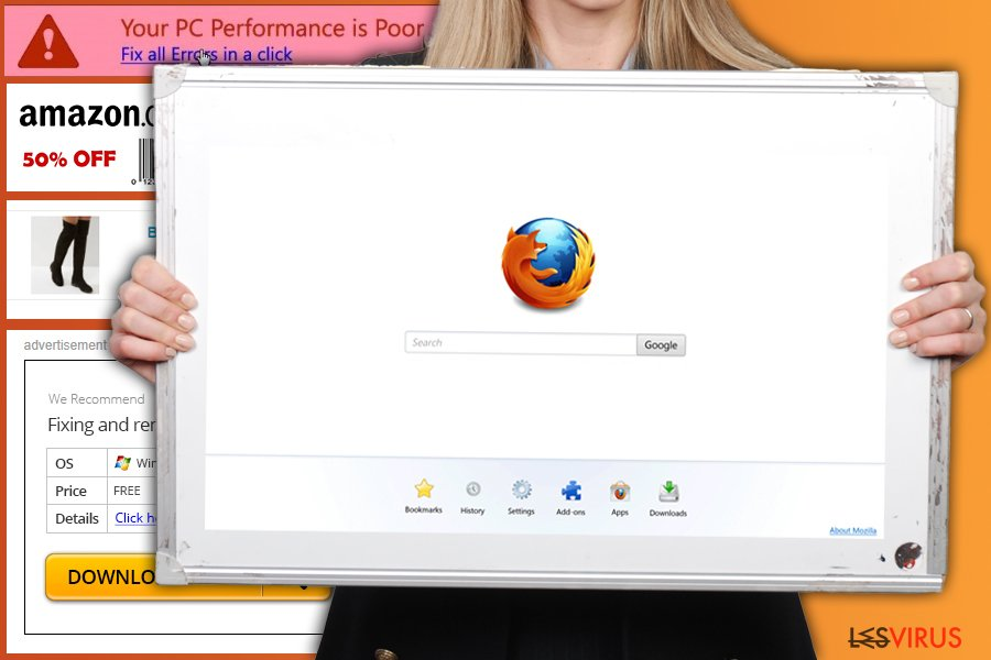 Le virus de redirection Firefox