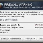 """Firewall Warning"" Fenêtres Publicitaires instantané"