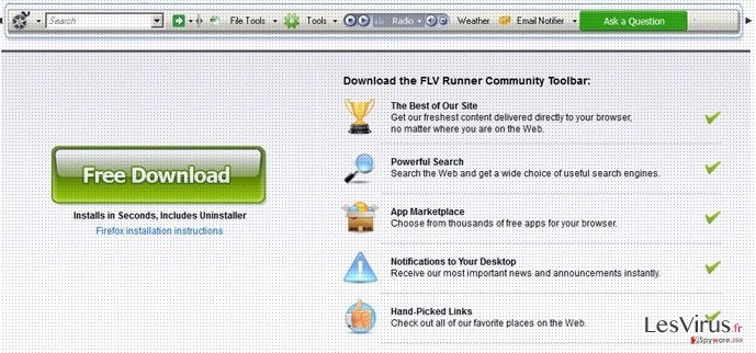 Flv Toolbar instantané