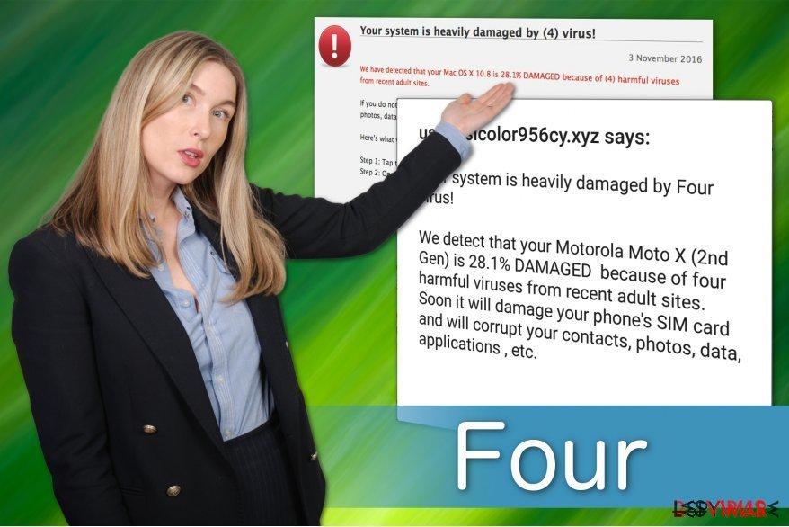 le faux avertissement du virus Four