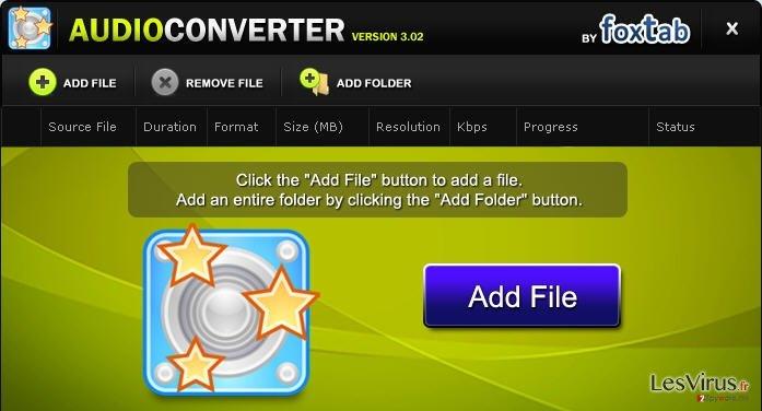 FoxTab Audio Converter instantané