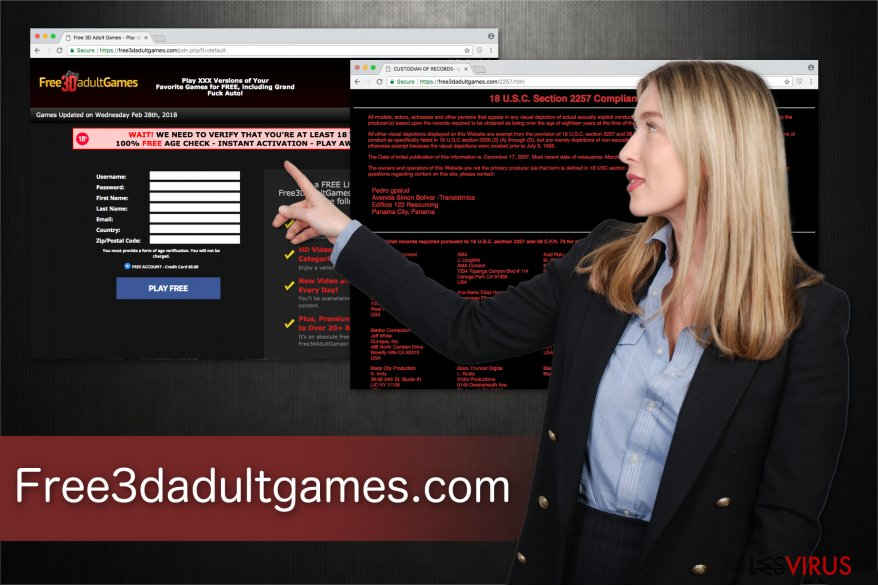 Illustration de la plateforme de jeu pour adulte Free3dadultgames.com