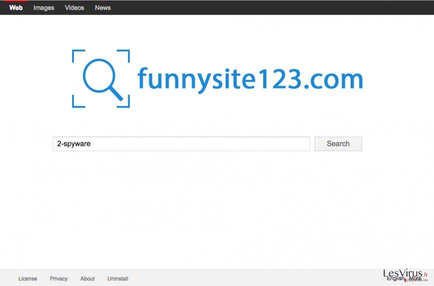 Capture d'écran du site FunnySite123.com