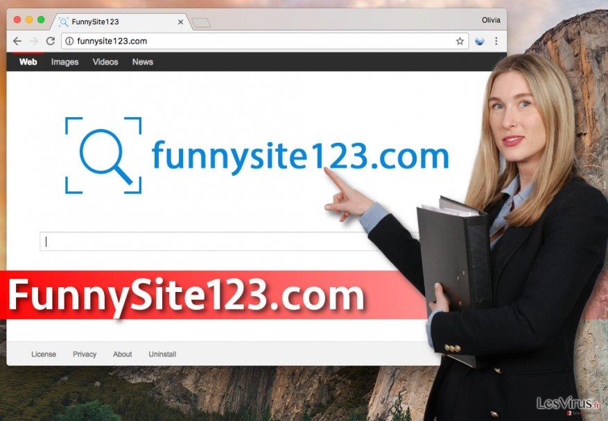 Le virus FunnySite123.com instantané