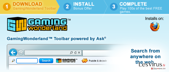 Gaming Wonderland Toolbar instantané