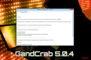 Le ransomware Gandcrab 5.0.4