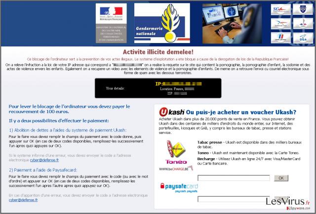 Le Virus Gendarmerie instantané