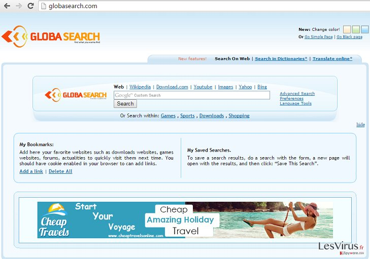GlobaSearch.com hijack instantané