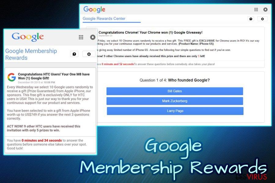 le virus Google Membership Reward